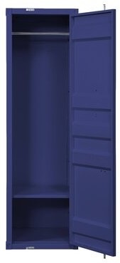 Yah 1-Door Wardrobe Armoire Mason & Marbles Color: Blue