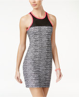 Material Girl Active Juniors' Mesh-Inset Bodycon Dress, Created for Macy's