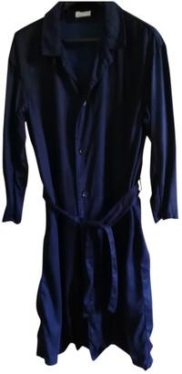 American Vintage Navy Viscose Trench coats