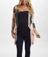 PinkBlush Ivory Stripe Maternity Open Cardigan