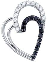 KATARINA and White Diamond Heart Pendant with Chain in 10K White Gold (1/3 cttw)