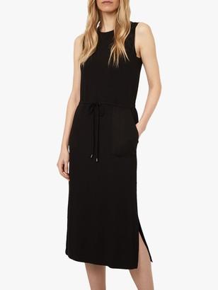 Warehouse Utility Midi Dress, Black