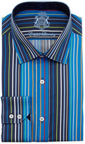 English Laundry Striped Long-Sleeve Dress Shirt, Multicolor