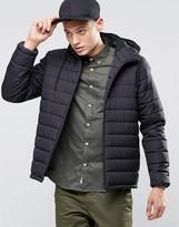 Element Hayden Hooded Quilt Jacket Black