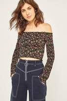Pins & Needles Winter Picnic Off-the-Shoulder Bardot Floral Top