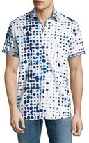 Robert Graham Biosphere Short-Sleeve Sport Shirt, White