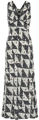 ALEXACHUNG Printed silk-blend dress