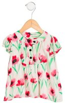 Milly Minis Girls' Floral Print Cap Sleeve Top