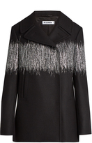 Jil Sander Barcraft embroidered wool-blend coat
