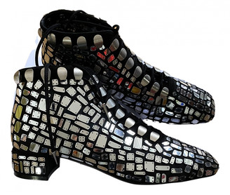 Christian Dior Naughtily-D Silver Glitter Ankle boots