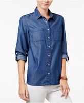 Tommy Hilfiger Pleated-Back Denim Shirt