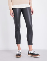 Brunello Cucinelli Cropped leather leggings