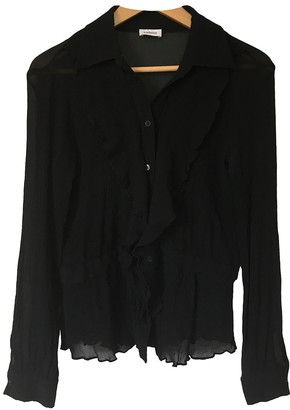 Cacharel Black Cotton Top for Women Vintage