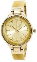 Anne Klein Women's AK/1408CHHN Swarovski Crystal-Accented Bangle Watch