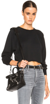 Unravel Cropped Raglan Sweatshirt in Black.