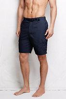 """Classic Men's 9"""" Shake Dry Hybrid Cargo Shorts Navy/Rich Olive"""