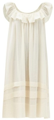 Loup Charmant Cirrus Ruffled Organic-cotton Midi Dress - Cream
