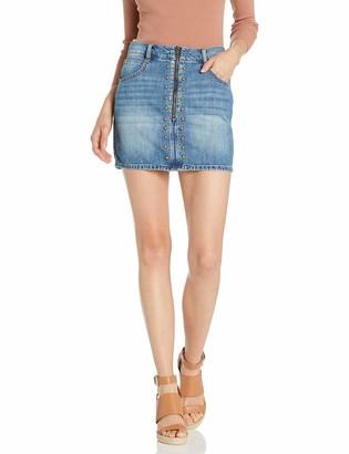 BCBGeneration Women's Studded Denim Mini Skirt