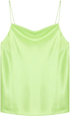 CAMI NYC Axel Lime Stretch-silk Top
