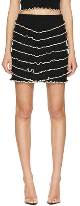 Victor Glemaud Black Knit Layer Miniskirt