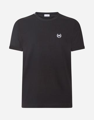 Dolce & Gabbana Round Neck Undershirt In Bi-Elastic Cotton Jersey With Patch