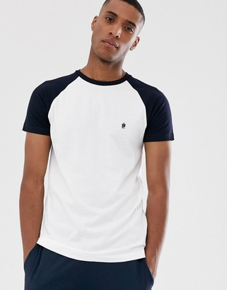 French Connection raglan contrast T-Shirt-White