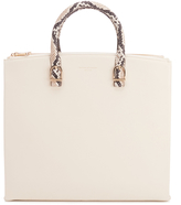 Aspinal of London Women's Editors Tote Bag Embossed Python