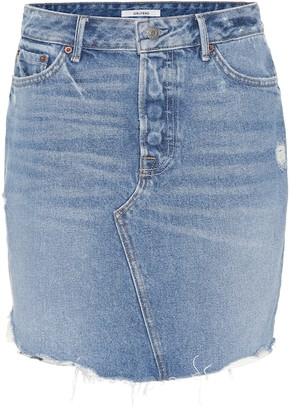 GRLFRND Rhoda high-rise denim miniskirt