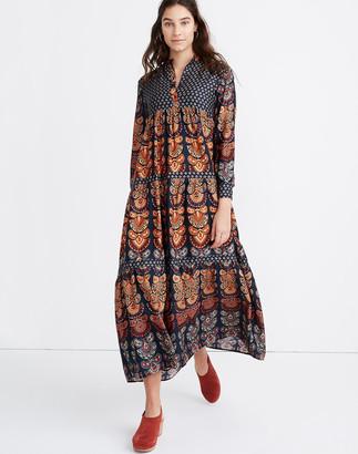 Madewell Warm Pheasant Tiered Maxi Dress