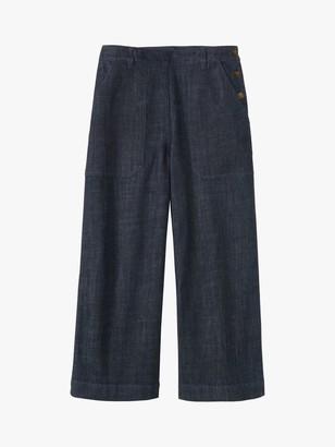 Toast Denim Side Button Trousers, Indigo