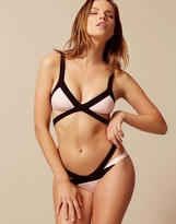 Agent Provocateur Mazzy Bikini Top Pink/Black