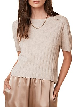 SABLYN Ethan Ribbed Cashmere Top