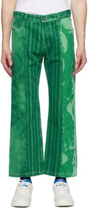 Diesel GR-Uniforma Green Edition Bleached Denim Jeans