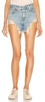 R 13 Shredded Slouch Shorts