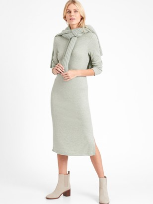 Banana Republic Ribbed-Knit Dress with Side Slit