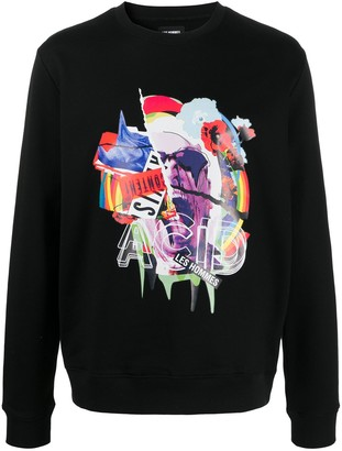 Les Hommes logo print sweatshirt