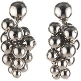 Oscar de la Renta Bold Beaded Cluster Earrings