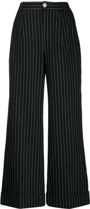Chanel Pre Owned 2010 Pinstriped Trousers