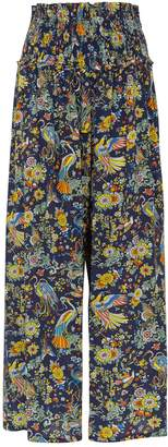 Tory Burch Smocked Beach Trousers