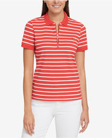 Tommy Hilfiger Striped Zip Polo, Created for Macy's