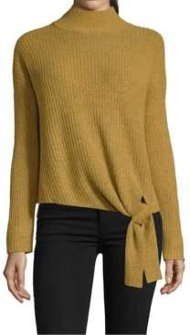 John Paul Richard Petite Side-Tie Mock-Neck Sweater