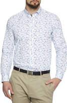 Geoffrey Beene Cycle Print Slim Fit Shirt