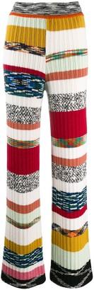 Missoni stripe panel ribbed knit trousers