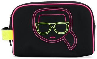 Karl Lagerfeld Paris K/Ikonik neon wash bag