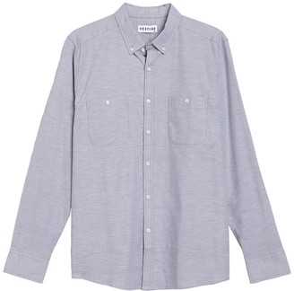 Vestige Double Chest Pocket Oxford Long Sleeve Shirt