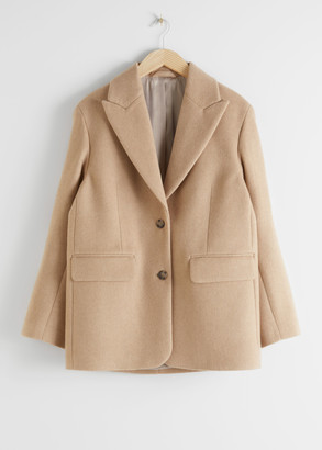 And other stories Oversized Wool Blend Tailored Blazer