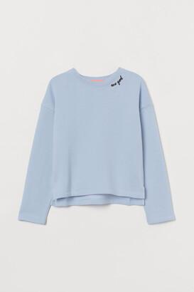 H&M Embroidery-detail Sweatshirt
