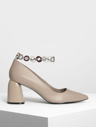 Charles & Keith Chain Anklet Detail Pumps