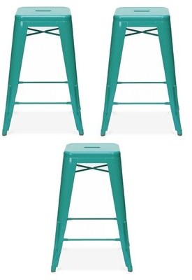 Latitude Run Bar Stool Color: Turquoise, Pack Size: 3