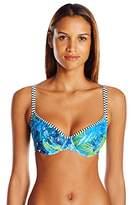 Panache Women's Elle Bra-Sized Molded Cup Balconnet Swimsuit Bikini Top